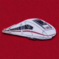 Значок с немецким скоростным поездом ICE