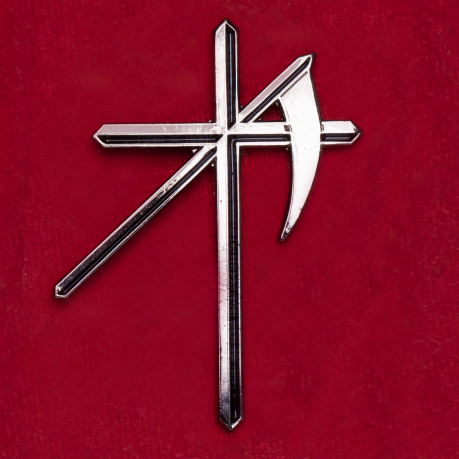 """Значок с оккультной символикой """"Крест с косой"""""""