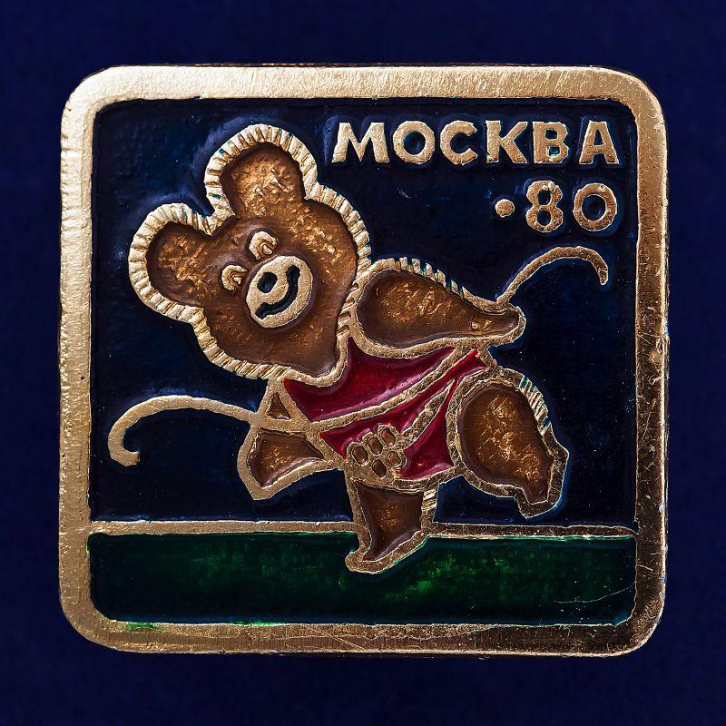 Значок с Олимпийским Мишкой