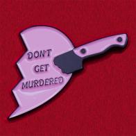 """Значок с половиной сердечка по мотивам подкаста """"Мое любимое убийство"""""""