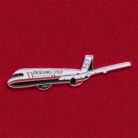 """Значок с самолетом """"Лайнер Боинг-757"""""""