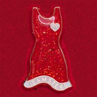 Значок с шикарным вечерним платьем с сердечком