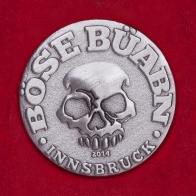 """Значок с тусовки любителей BDSM """"Клуб плохих парней"""" (Берлин) в Инсбруке"""