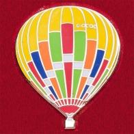 Значок с ярким воздушным шаром