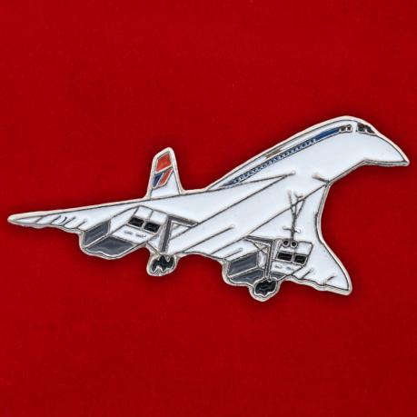 """Значок Самолет """"Конкорд"""""""