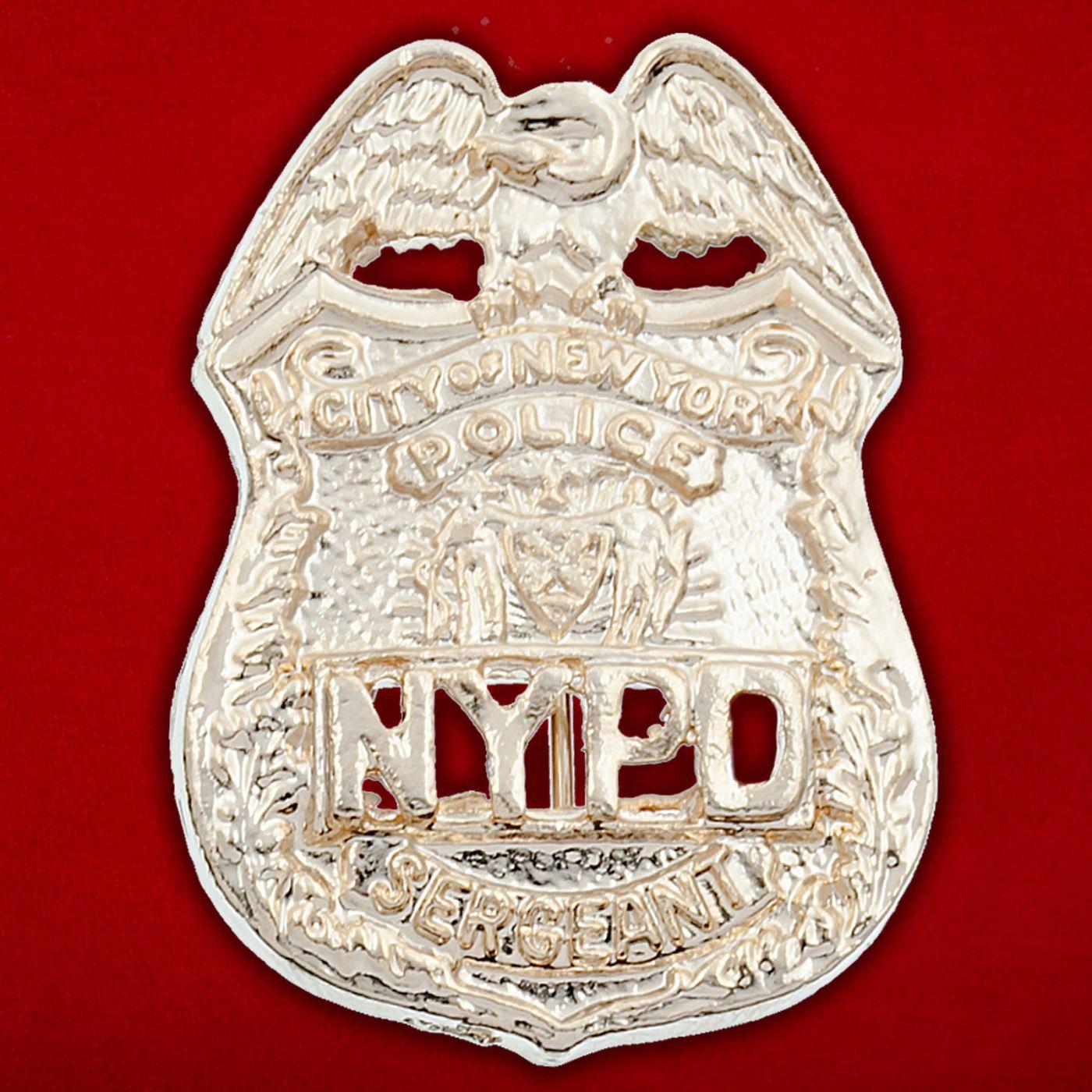 Значок сержанта полиции Нью-Йорка