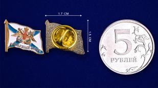 """Значок """"Северный флот"""" - сравнительный размер"""