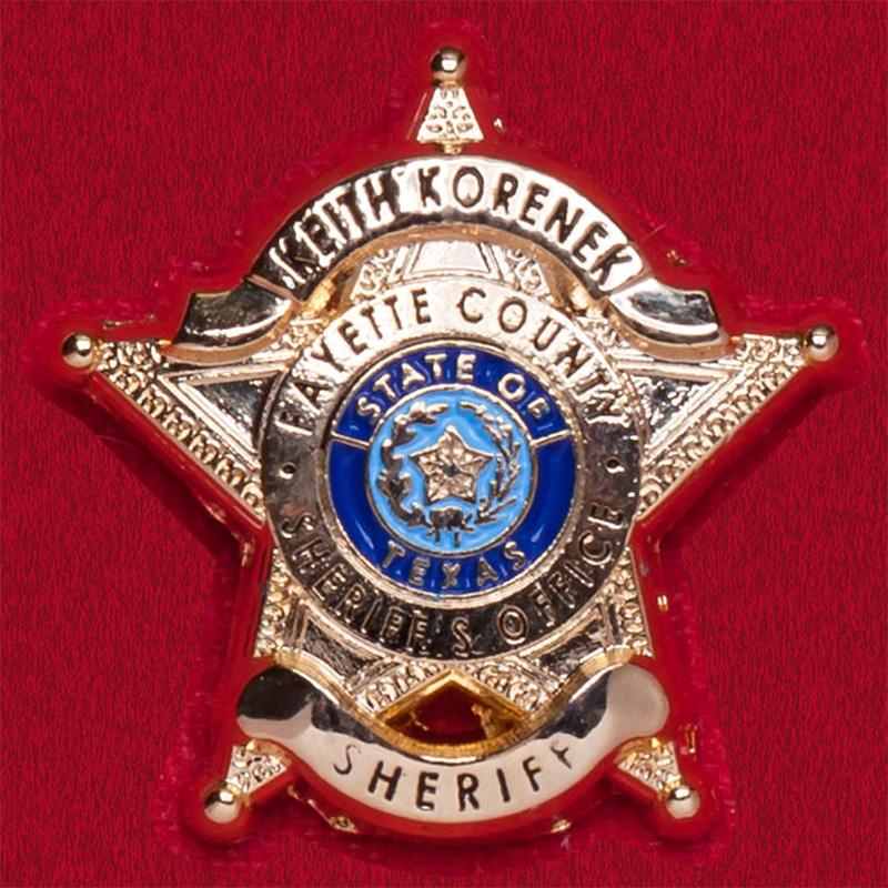 Значок шерифа округа Техас