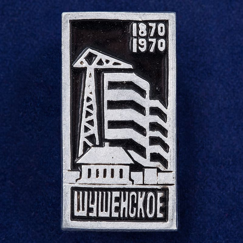 "Значок ""Шушенское. 1870-1970"""