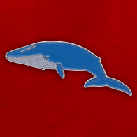 "Значок ""Синий кит"""