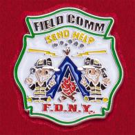 Значок Службы связи Управления пожарной охраны Нью-Йорка