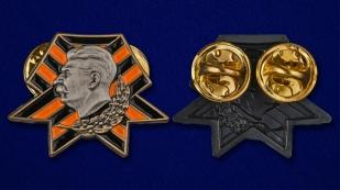 Значок со Сталиным - аверс и реверс