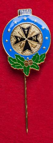 """Значок спецназа Германии """"Крест с дубовыми листьями"""""""