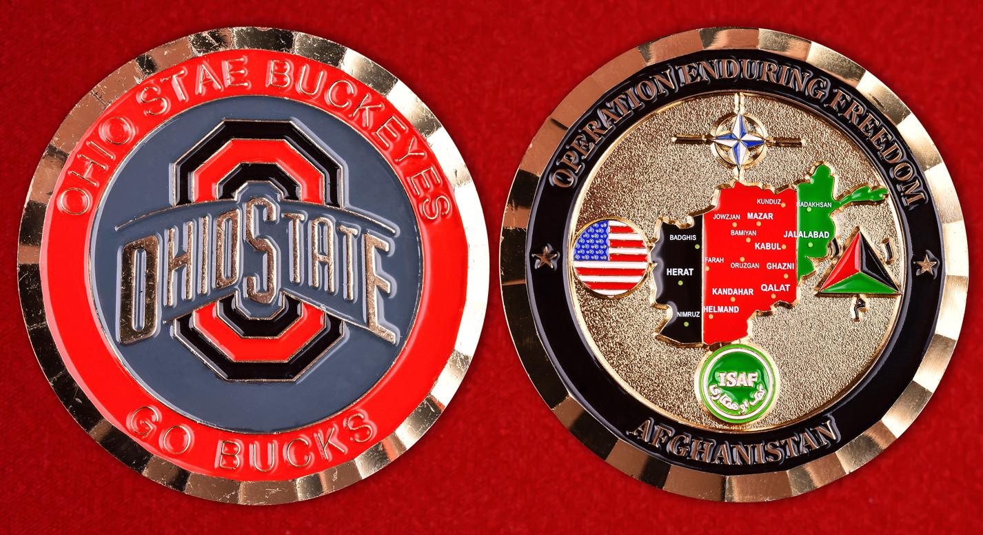 Значок спортивного клуба США Ohio State Buckeyes