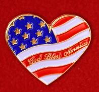 """Значок США """"Боже, благослови Америку"""""""