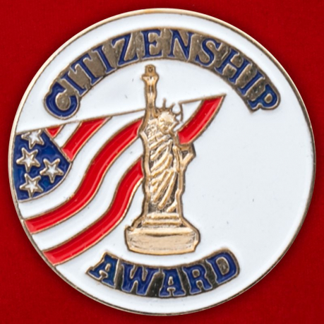 "Значок США ""Citizenship Award"""