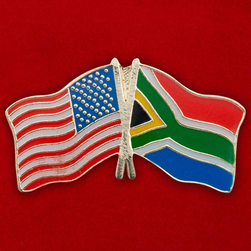 """Значок """"США - ЮАР"""""""