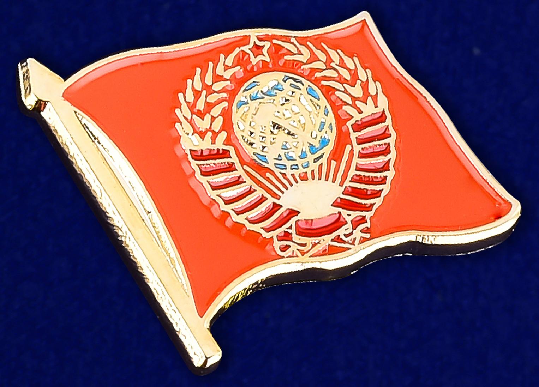 Значок СССР с гербом - общий вид