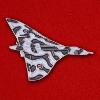 """Значок """"Стратегический бомбардировщик Королевских ВВС Великобритании Авро Вулкан"""""""