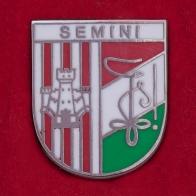 Значок студенческого клуба Semini. Антверпен, Бельгия