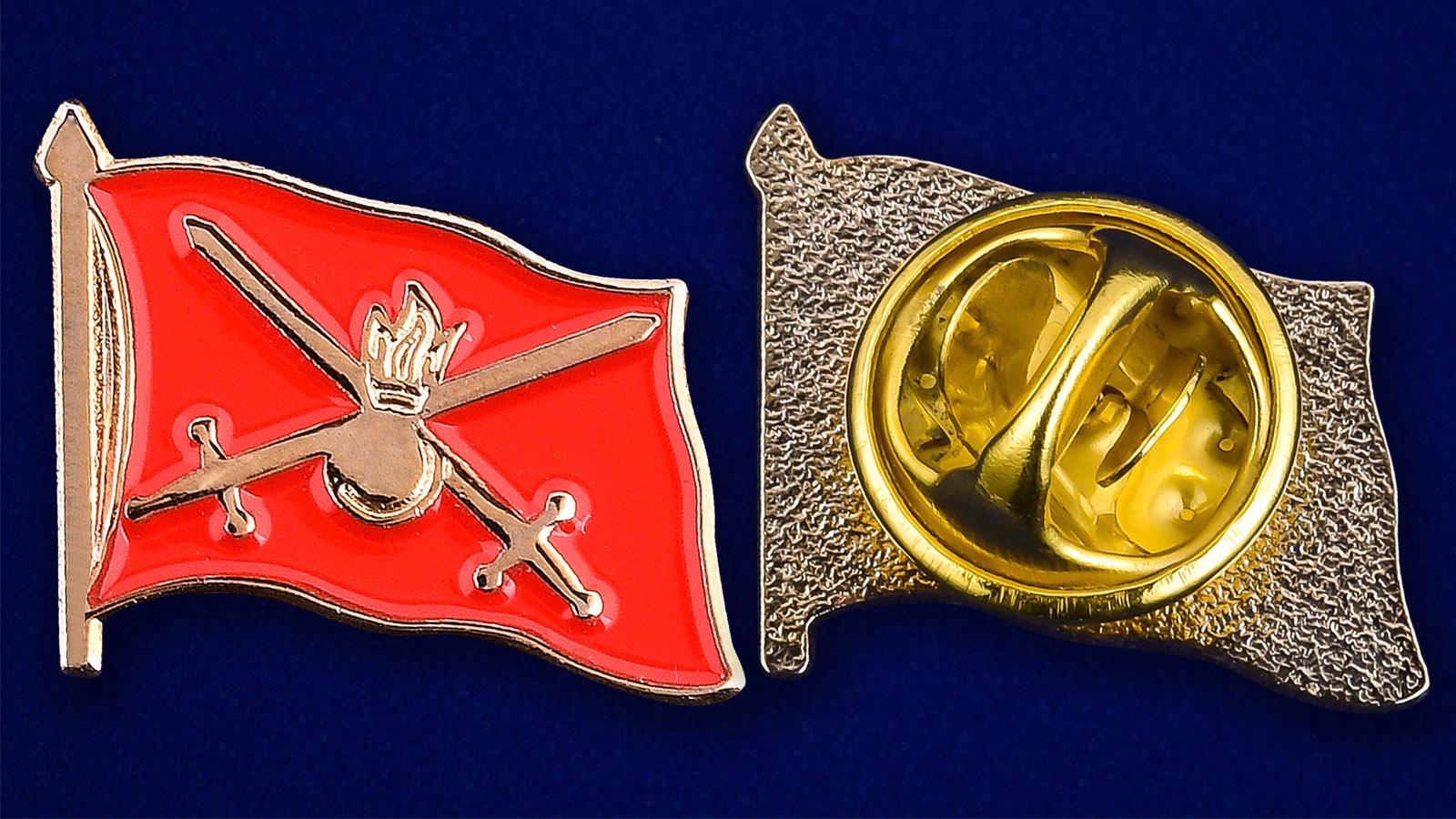 Значок Сухопутных войск - аверс и реверс