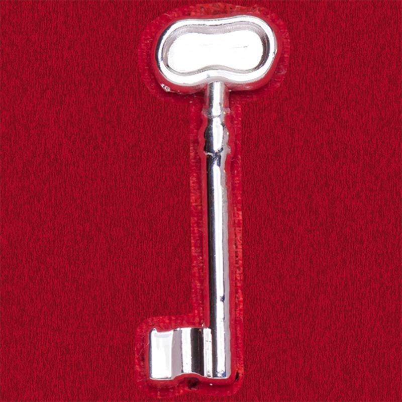 Значок-талисман Серебряный ключ. На удачу в учебе и бизнесе