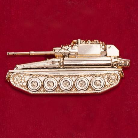 "Значок ""Танк Скорпион-90"" для фанатов World of Tanks и бронетехники"