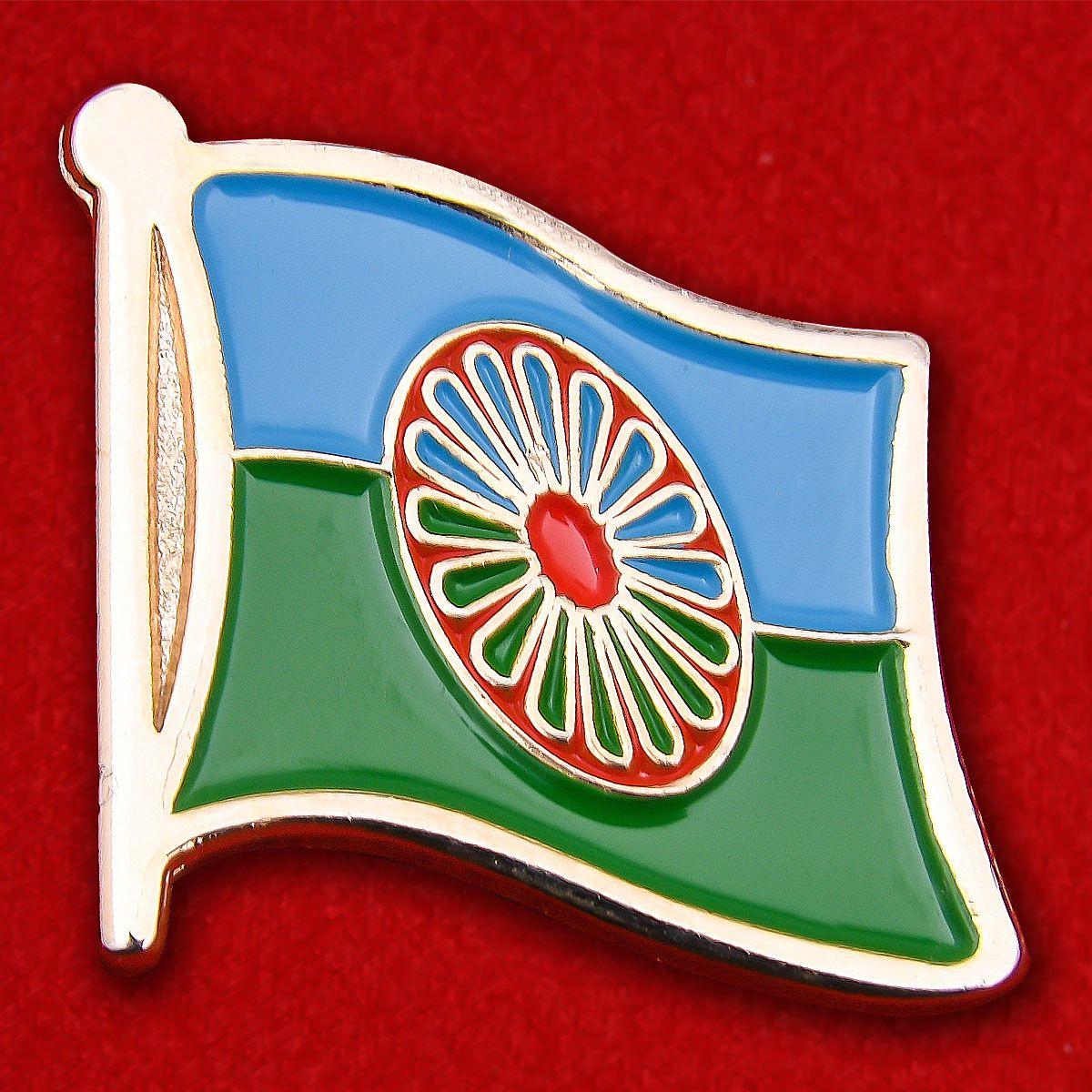 Значок Цыганского флага