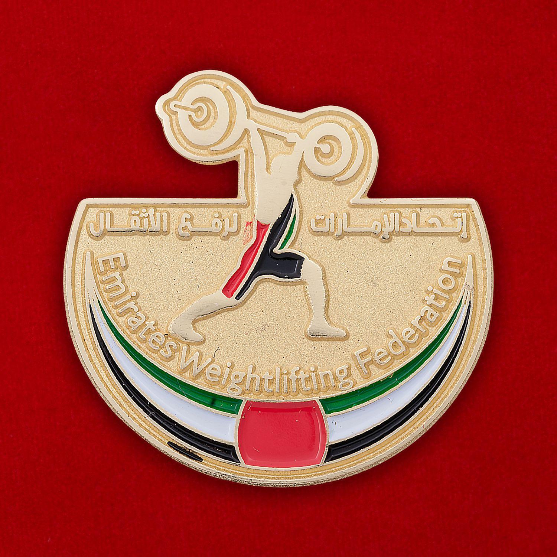 Значок Федерации тяжелой атлетики ОАЭ
