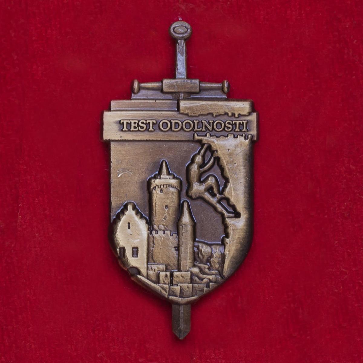 Значок участников экзаменов на выносливость в полиции Чехии (бронза)