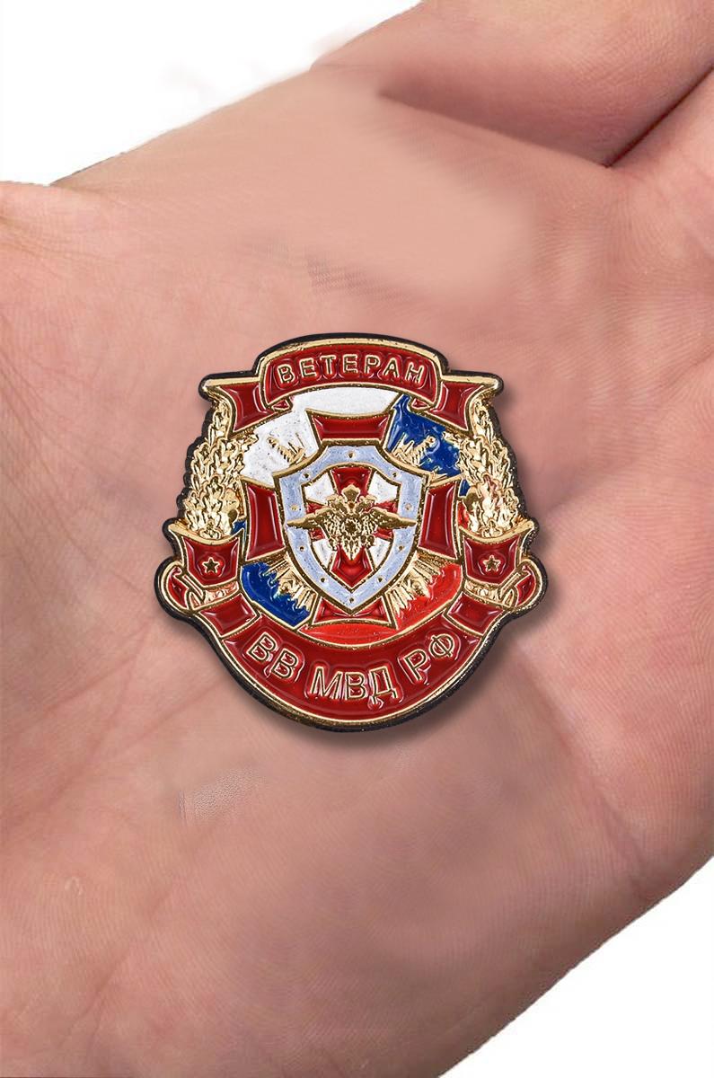 """Сувенирный знак """"Ветеран ВВ МВД РФ"""" с доставкой"""