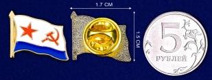 Значок ВМФ СССР - сравнительный размер