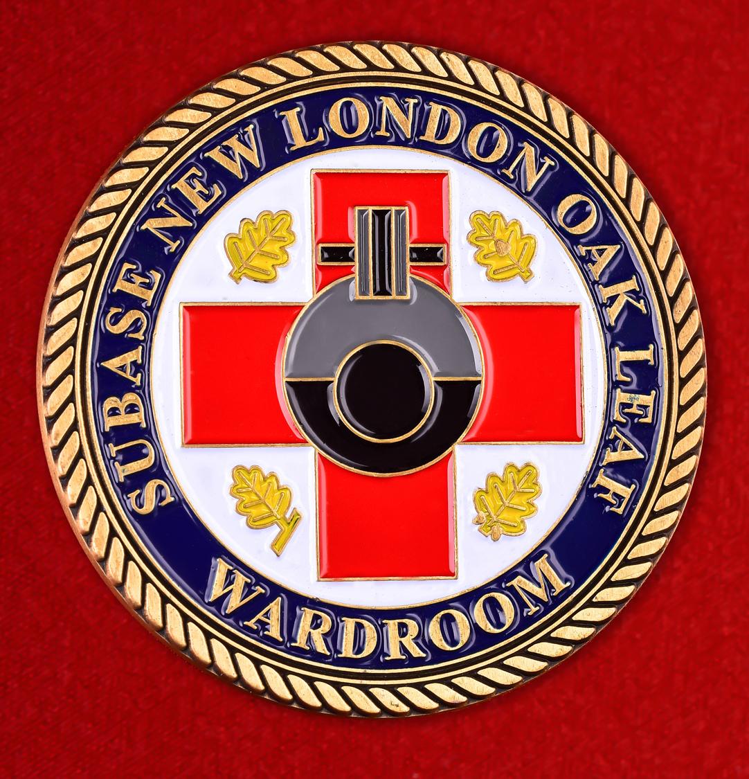 """Значок ВМС США """"Медицинская служба базы субмарин Нью-Лондон"""""""