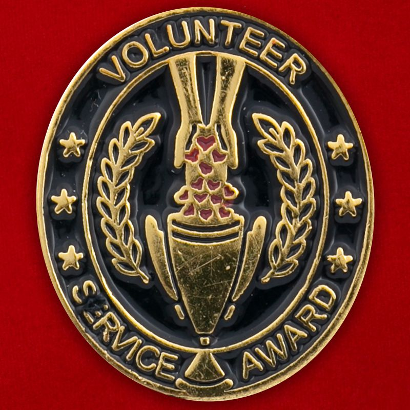 "Значок ""Volunteer Service Award"""