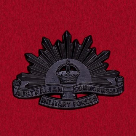 Значок Вооруженных Сил Австралии образца 1916 года (черный)