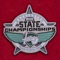 Значок юношеского чемпионата штата Вашингтон по легкой атлетике