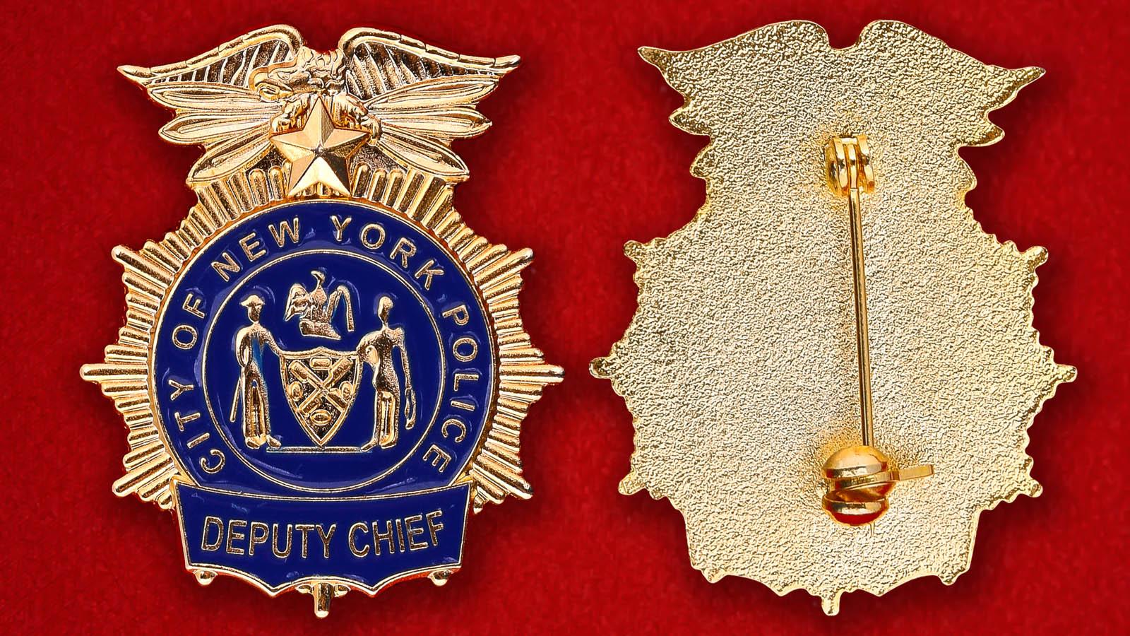 Значок заместителя начальника полиции Нью-Йорка