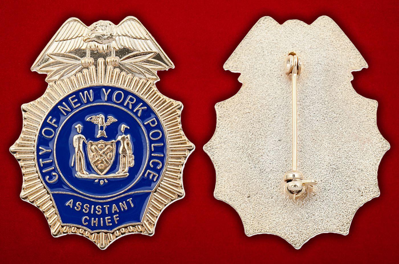 Значок заместителя начальника полиции Нью-Йорка - аверс и реверс