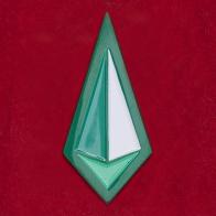 """Дизайнерский значок от Goellnerd для фанатов Вселенной Стивена """"Малахит"""""""