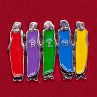 """Значок женского крыла тайной студенческой организации """"Beta Sigma Phi"""""""
