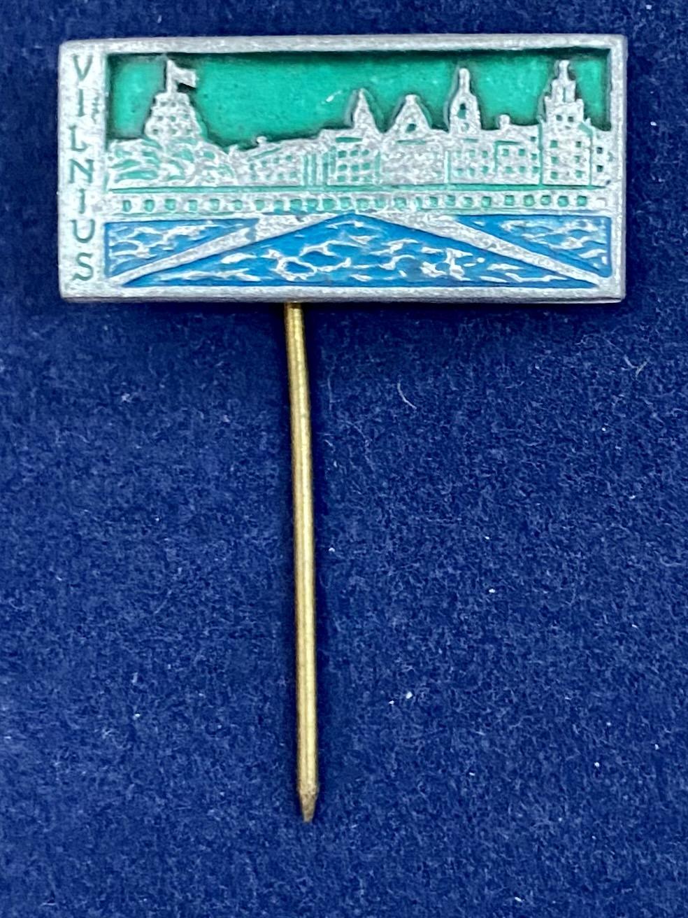 Значок на иголке Вильнюс