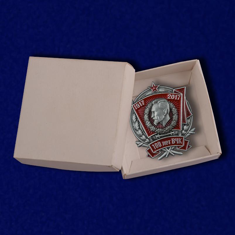 Нагрудный знак 100 лет ВЧК - в коробке