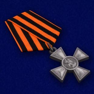 Знак 200-летие Георгиевского креста в бархатистом футляре с покрытием из флока - общий вид