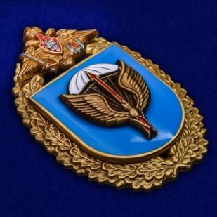 """Знак """"31-я отдельная Воздушно-десантная бригада"""" в бархатистом футляре из флока - общий вид"""