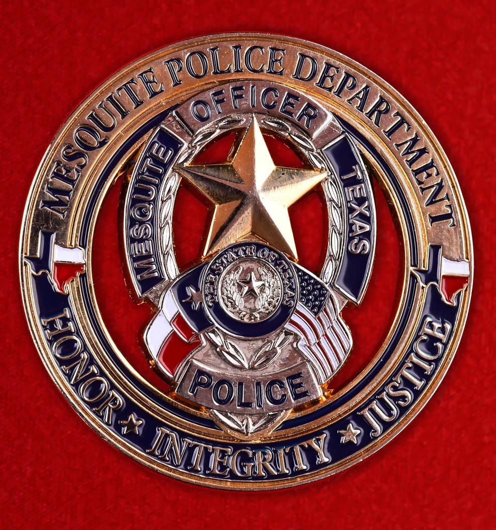 """Знак американской полиции """"Департамент Мескита"""""""
