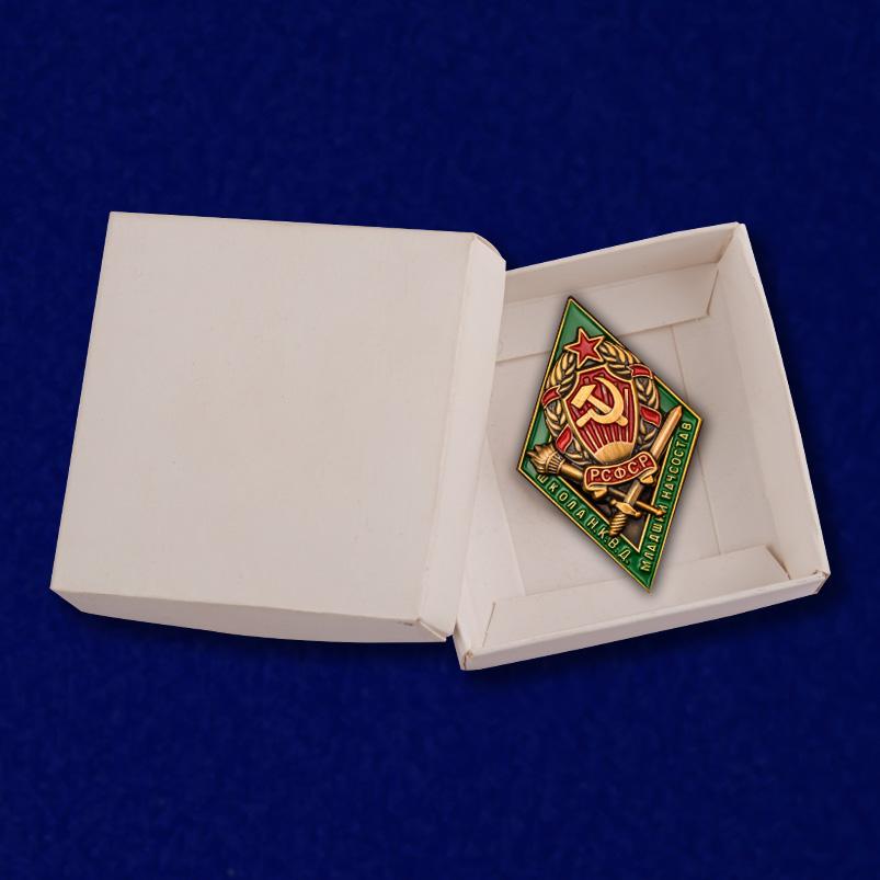 Знак для окончивших Школу младшего начсостава НКВД - в коробке