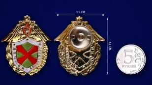 Знак ФПС РФ Лучший специалист в бархатном футляре - Сравнительный вид