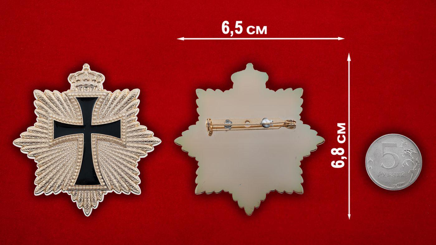 Знак Испанской короны - сравнительный размер