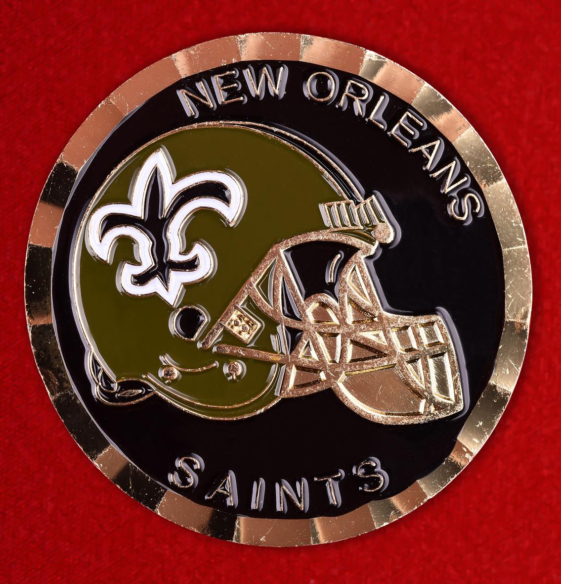 Знак клуба американского футбола New Orlean Saints