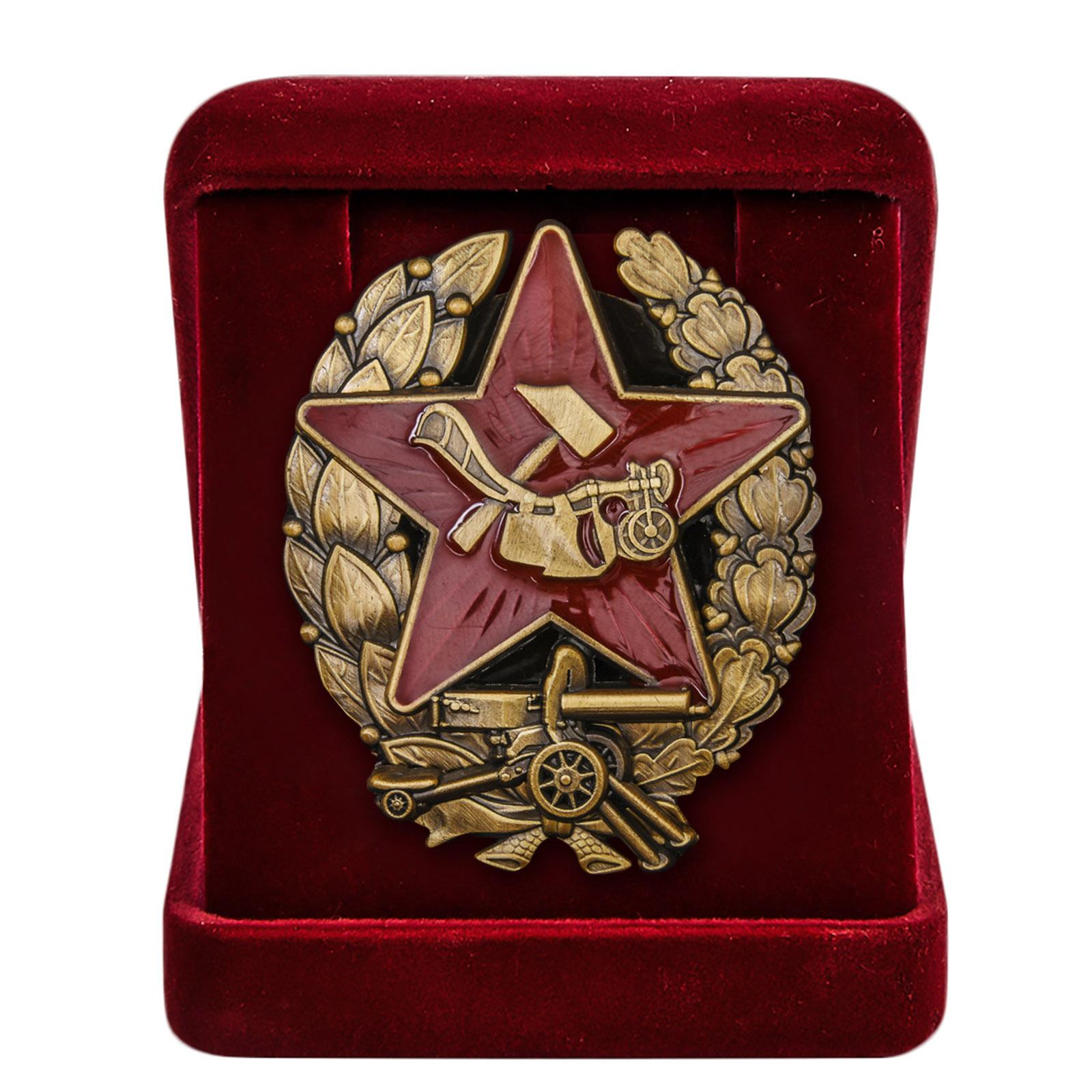 Знак Красного командира РККА в футляре